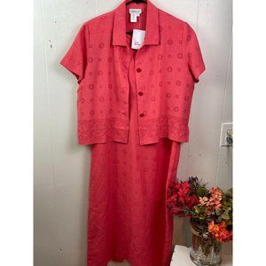 Nwot Coolwater Creek long dress 100% Linen